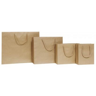 Bolsas de papel modelo NATURAL hawana asa cordón