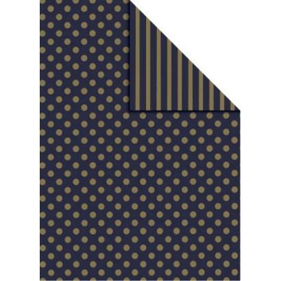 Bobina papel regalo bicolor B876