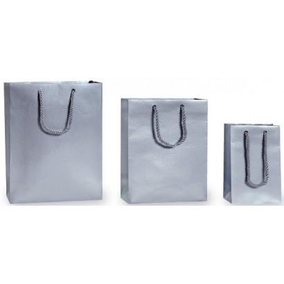 Bolsas de papel modelo SNAKE plata asa cordón