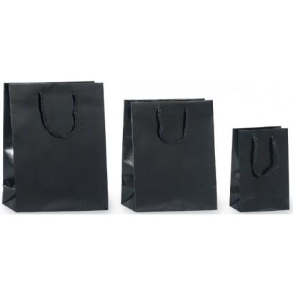 Bolsas de papel modelo SNAKE negro asa cordón