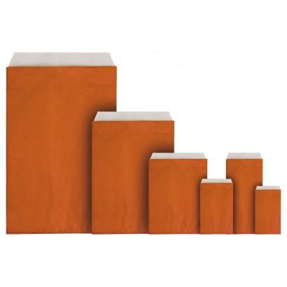 Sobres de papel color liso naranja