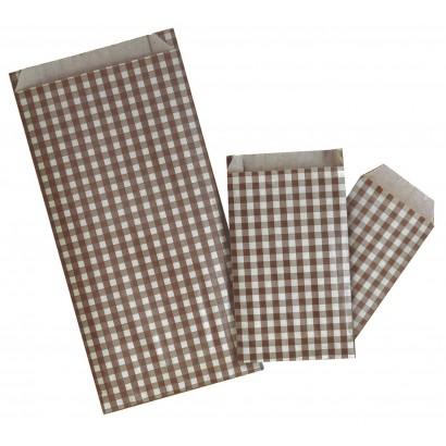 Sobres de papel CUADRO VICHY marrón