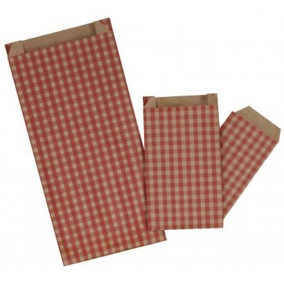 Sobres de papel CUADRO VICHY rojo