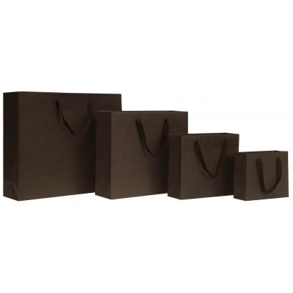 Bolsas de papel modelo GRAFFITI marrón asa cordón