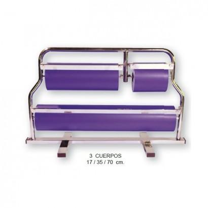 Portarrollos de papel de regalo horizontal 17+35+70 cm