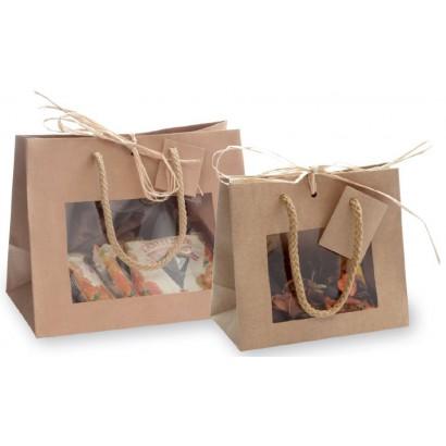 Bolsas de papel linea natural con ventana