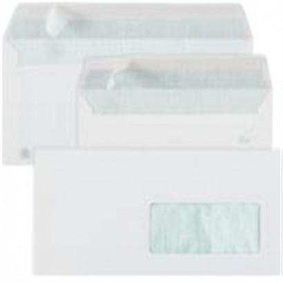 Sobres de papel reciclado con ventana derecha