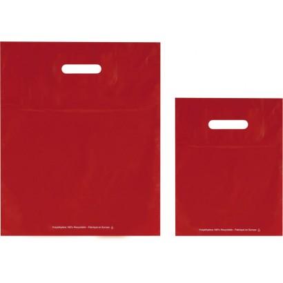 Bolsas de plástico ECO FESTIVAL rojo asa troquelada
