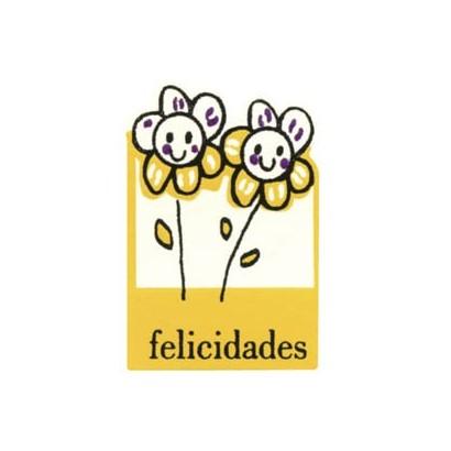"Etiquetas adhesivas ""Felicidades"" SET-044"
