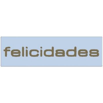 "Etiquetas adhesivas ""Felicidades"" SET-1125"