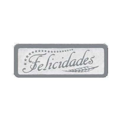 """Etiquetas adhesivas """"Felicidades"""" S3-741"""