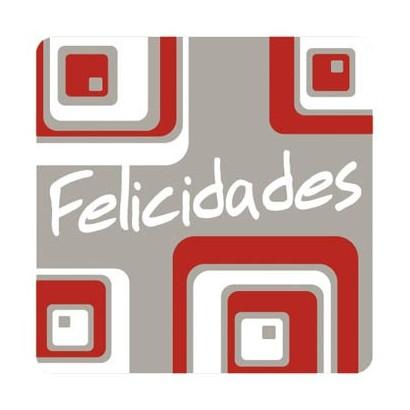 """Etiquetas adhesivas """"Felicidades"""" S31-008"""