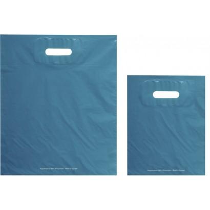 Bolsas de plástico ECO FESTIVAL azul asa troquelada