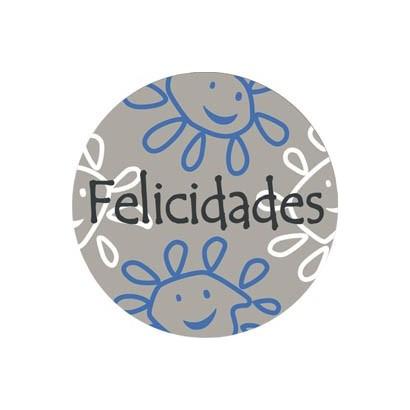 """Etiquetas adhesivas """"Felicidades"""" S31-009"""