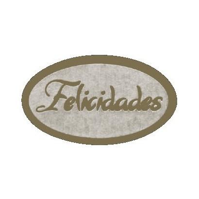 """Etiquetas adhesivas """"Felicidades"""" S3-242"""