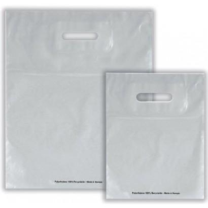 Bolsas de plástico ECO FESTIVAL plata asa troquelada