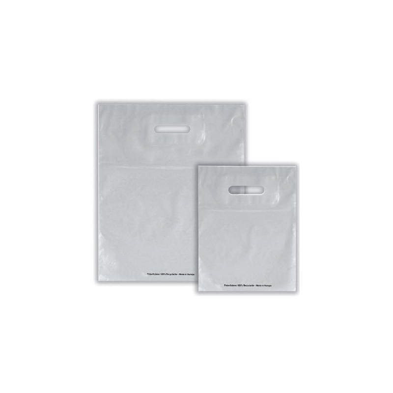 40e55fcef Bolsas de plástico ECO FESTIVAL plata asa troquelada