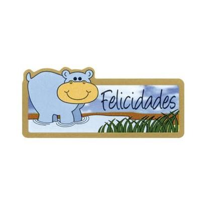 """Etiquetas adhesivas """"Felicidades"""" S3-359"""
