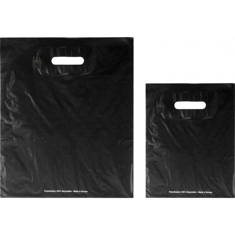 Bolsas de plástico ECO FESTIVAL negro asa troquelada
