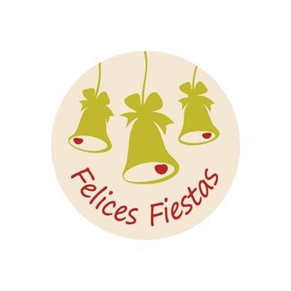 """Etiquetas adhesivas """"Navidad y Felices Fiestas"""" S31-014"""