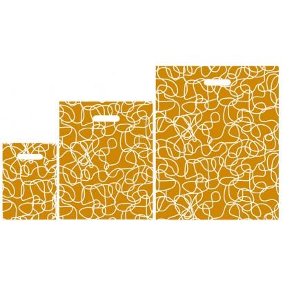 Bolsas de plástico CAPRI naranja asa troquelada