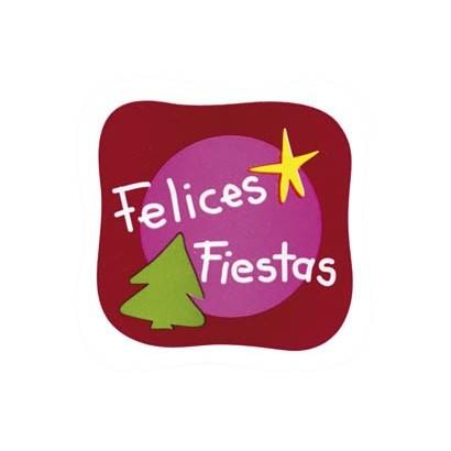 """Etiquetas adhesivas """"Navidad y Felices Fiestas"""" S3-736"""