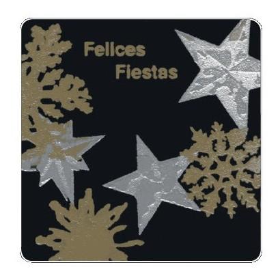 """Etiquetas adhesivas """"Navidad y Felices Fiestas"""" SET-055"""