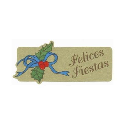 """Etiquetas adhesivas """"Navidad y Felices Fiestas"""" S3-373"""