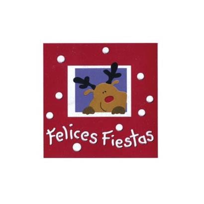 """Etiquetas adhesivas """"Navidad y Felices Fiestas"""" S3-738"""