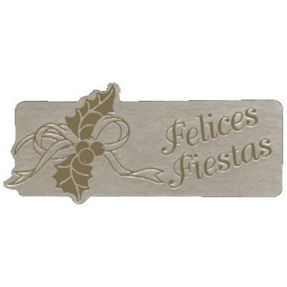 """Etiquetas adhesivas """"Navidad y Felices Fiestas"""" S3-374"""