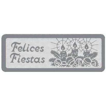 """Etiquetas adhesivas """"Navidad y Felices Fiestas"""" S3-743"""