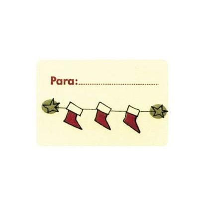 """Etiquetas adhesivas """"Navidad y Felices Fiestas"""" SET-053"""