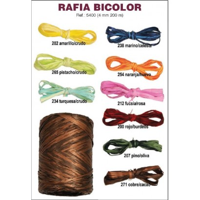 Cinta decorativa rafia synthetic bicolor