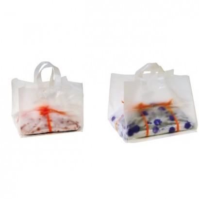 Bolsas de plástico transparente con asa