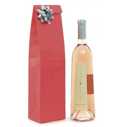 Bolsas para botellas eco regalo rojo sin asa