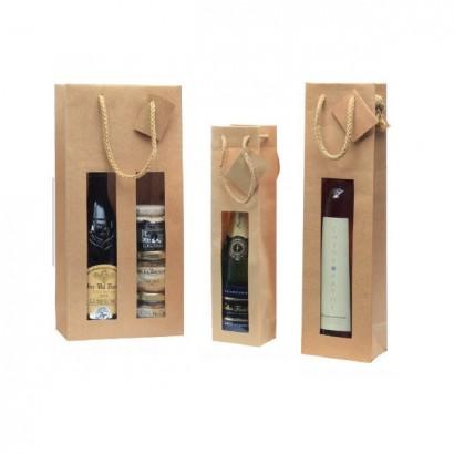 Bolsas para botellas modelo Lux Nature con ventana