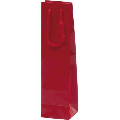 Bolsas para botellas plastificadas rojo sin ventana