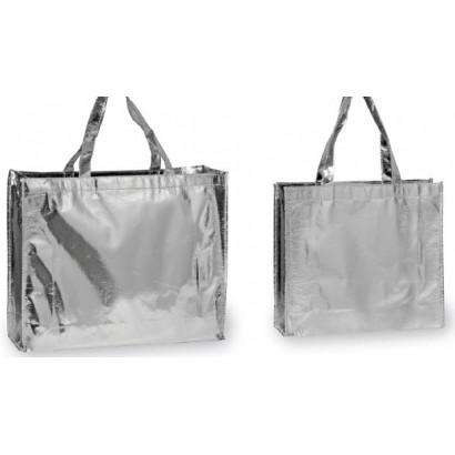 Bolsas TNT plastificadas plata
