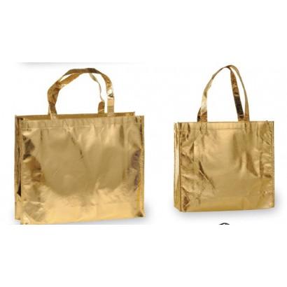 Bolsas TNT plastificadas oro