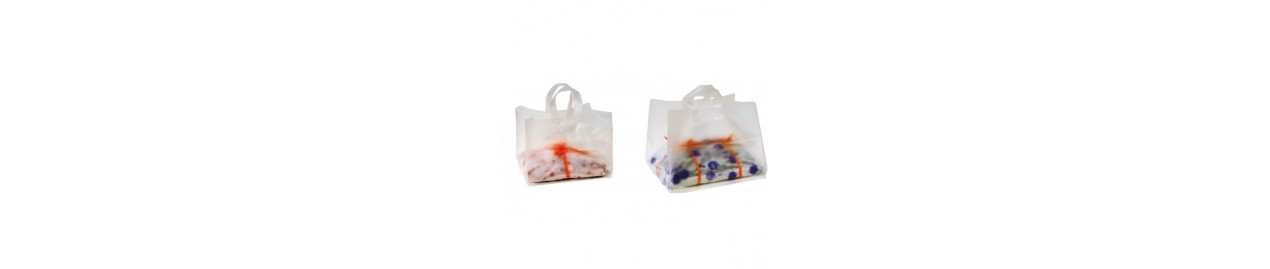 Bolsas para pasteleria y alimentación de plástico