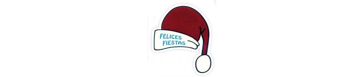 """Etiquetas adhesivas """"navidad y felices fiestas"""""""