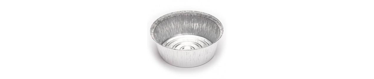 Envases de aluminio y tapas para pollos asados y patatas