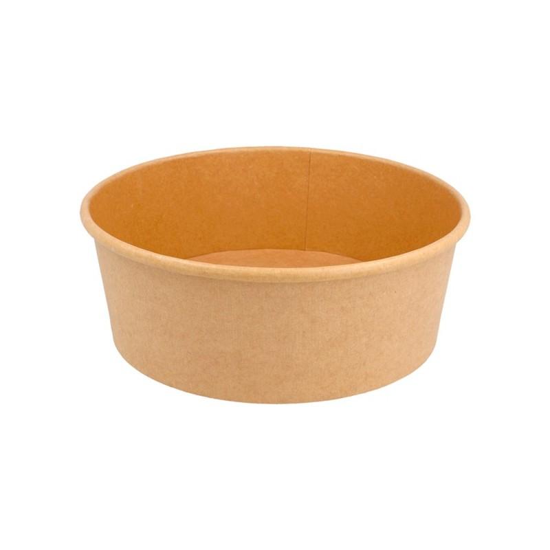 Envase redondo natural Kraft 1000 ml