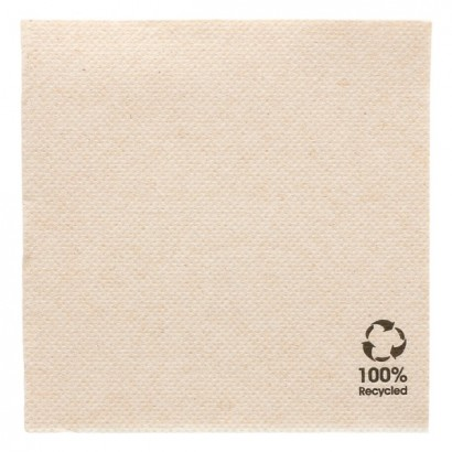 Servilletas blancas de una capa