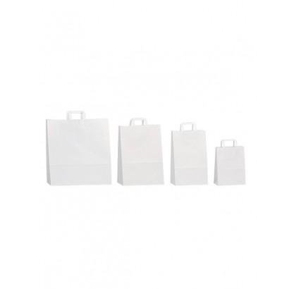 Bolsas de papel blanco asa...