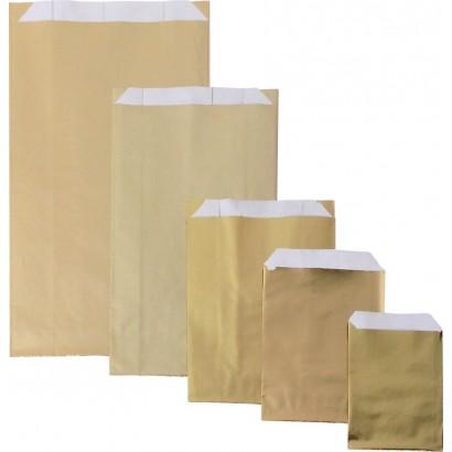 Sobres de papel metalizado oro