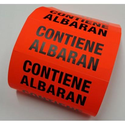 """Etiquetas """"CONTIENE ALBARÁN"""""""