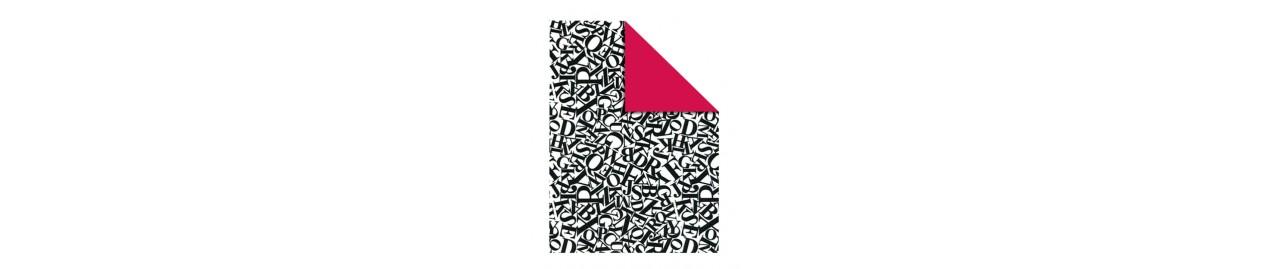 Papel de regalo diseños bicolor