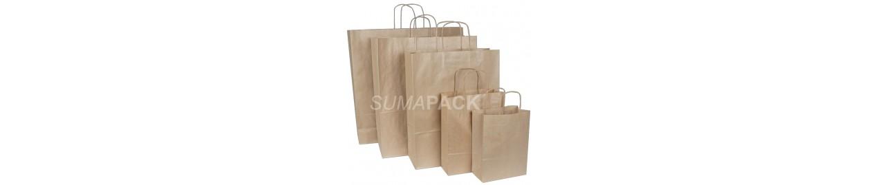 Bolsas de papel, bolsas de plástico, bolsas para botellas y TNT