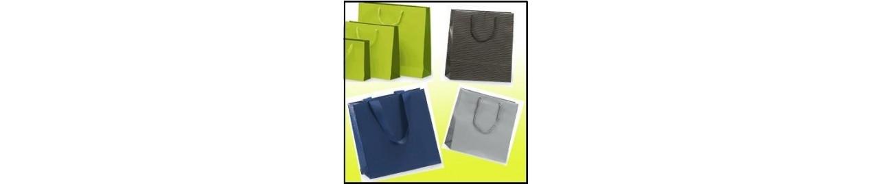 Bolsas de papel asa de cordón